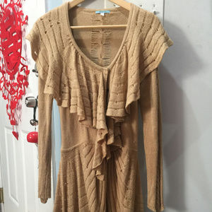 Leifnotes (Anthropologie) Woman's Tan Sweater